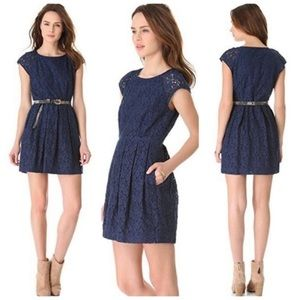 Madewell navy lacebloom dress
